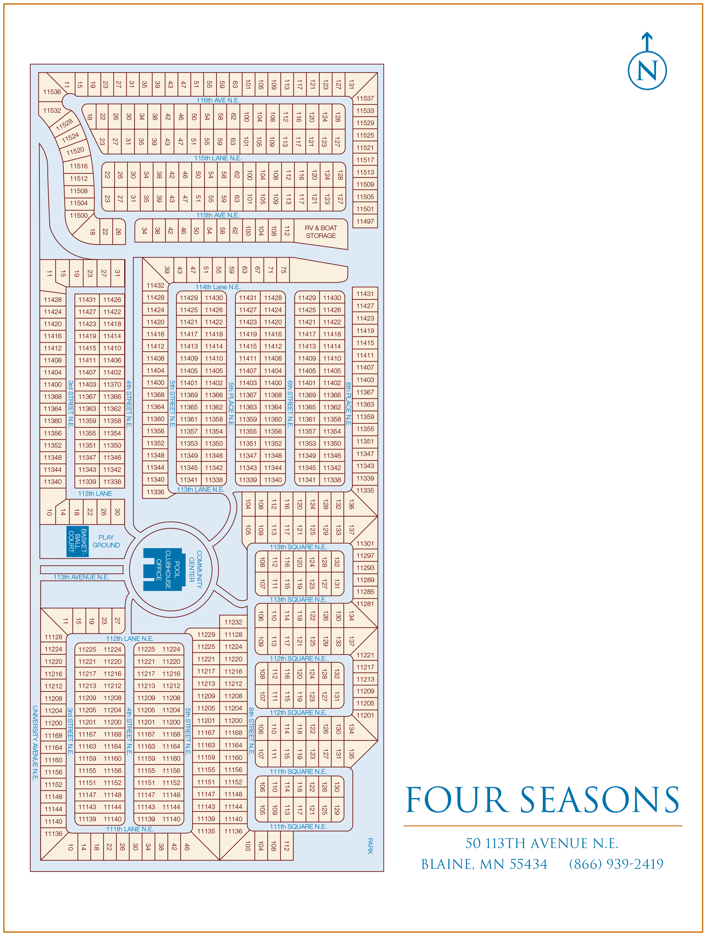 Park of Four Seasons site map